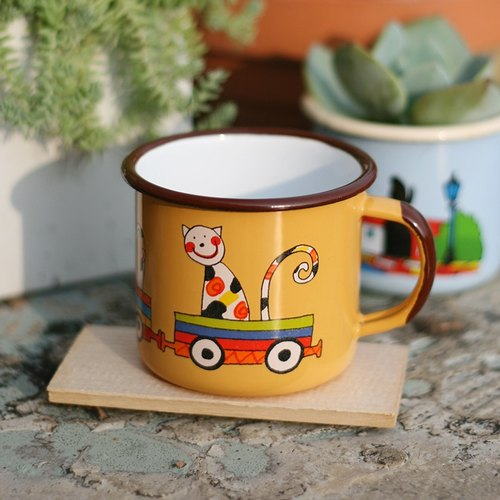 Smaltum Prague enamel cup Wang meow friend _ Cheng Huang (350ml) <FDN000176>