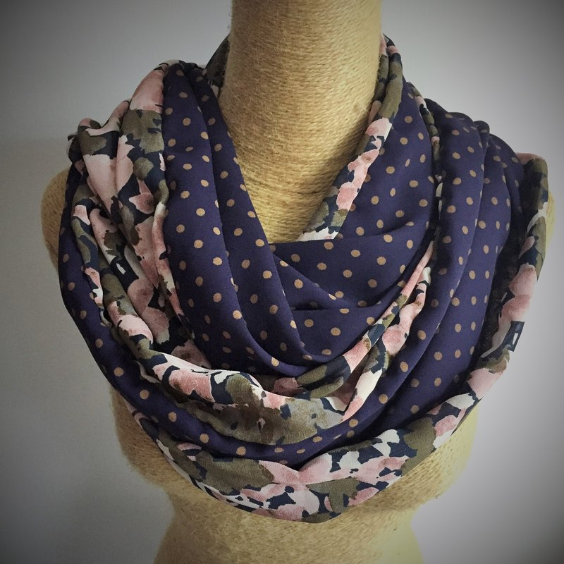 Spring is here! Sided circle chiffon scarves / neck Wai Circle / Infinity Scarf (camouflage suit + little)