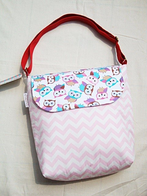 Medium Crossbody - Chevron Owl