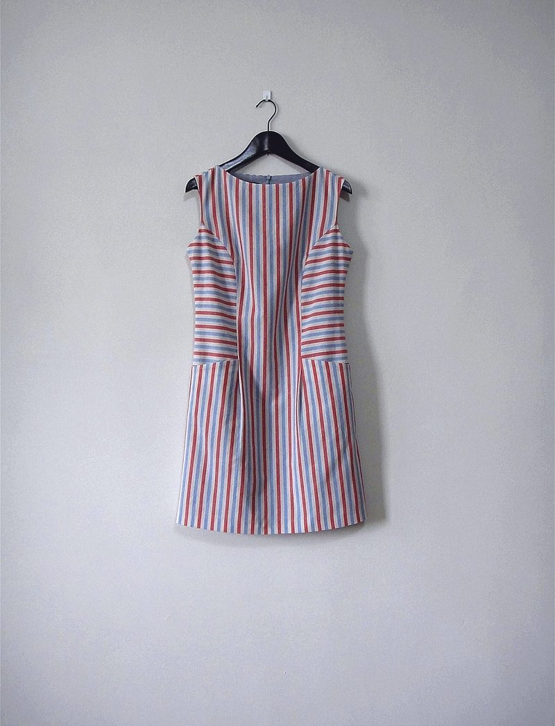 Hand made straight stripes dress