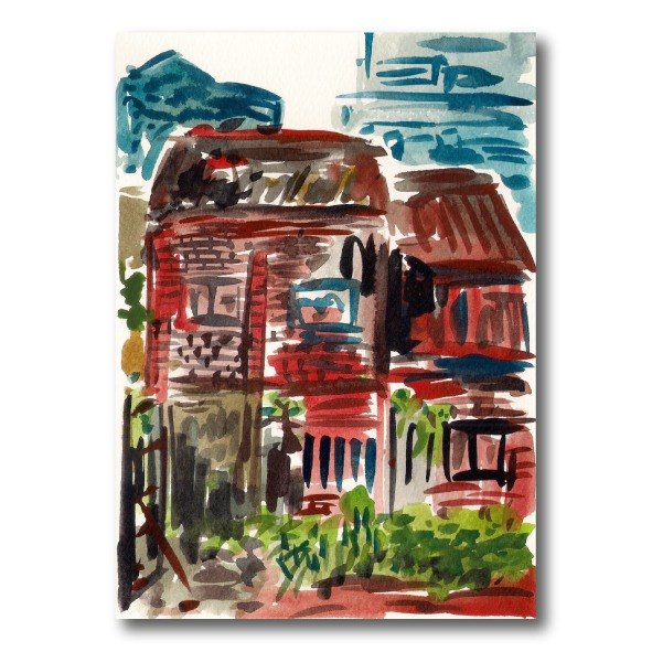 [Taiwan] Yingge place. Station Historic home - hand-painted postcards