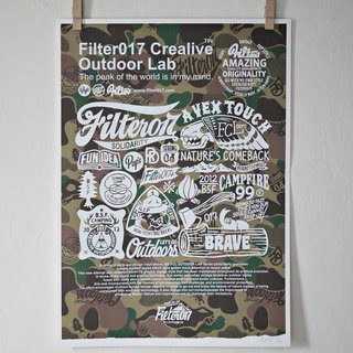 Filter017 FCL OUTDOOR LAB Screen Printing Poster Limited handmade screen print for camouflage classic