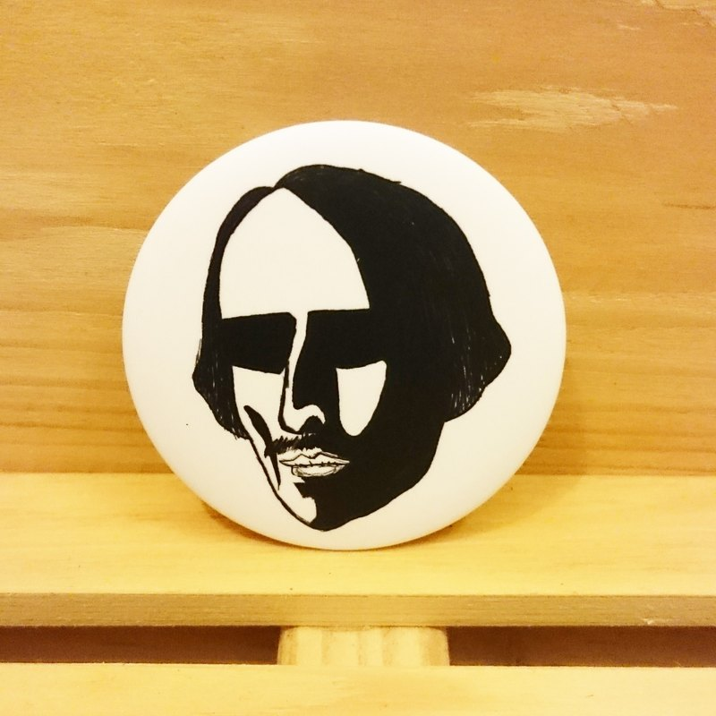 Shakespeare hit] hand-painted wind badge