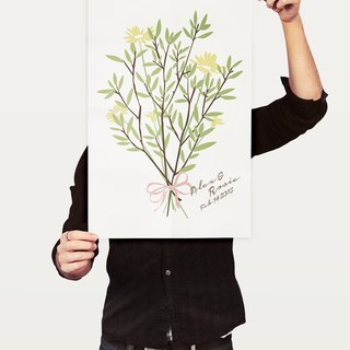 Tequila original design poster A3 upright - Signature Tree -Save Our Date