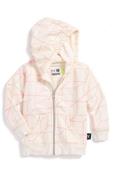 2014 autumn and winter NUNUNU grid Hooded Jacket (big virgin)