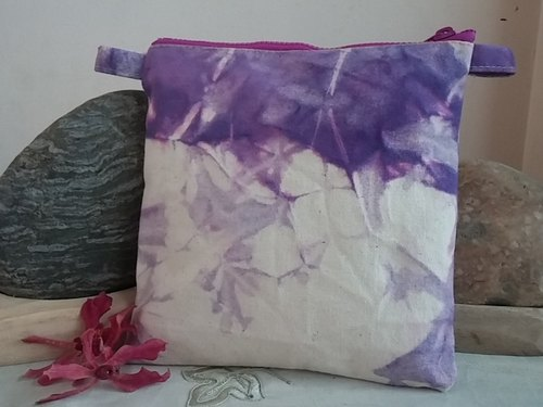 6'lavender color cosmetic bag debris personal kits