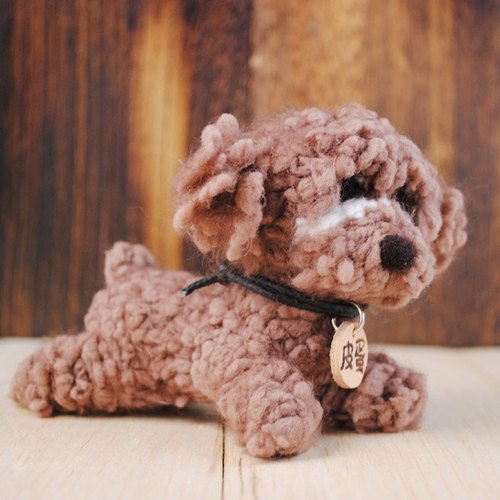 12cm pet cloned baby [feiwa Fei handmade doll pet poodle red] (welcome to build your dog)