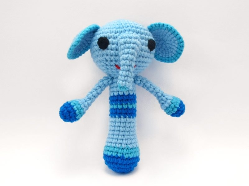 Short-nosed elephant - baby rattle - Hand births ceremony
