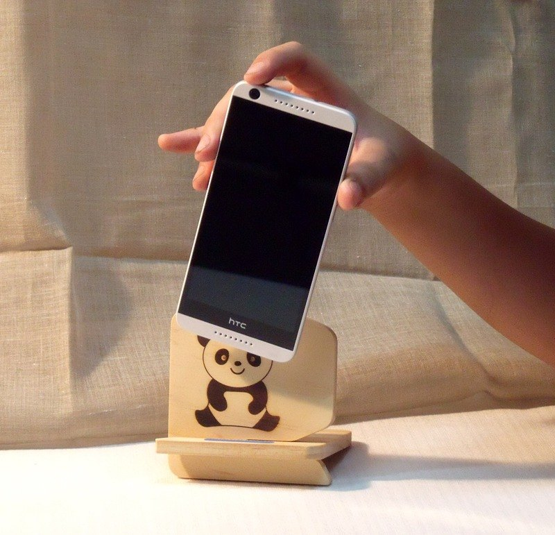 mobile phone holder lovely wood lacquer wax warm scent mobile phone holder name custom birthday - Phone Card Holder Custom