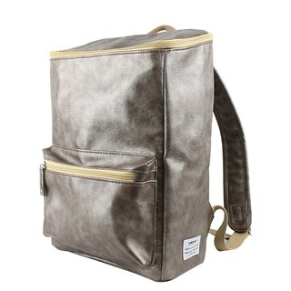 AMINAH- bright silver gray square leather back [am-0227-III]