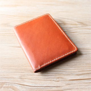 [Butterfly hand-made leather] passport holder (free branding service).