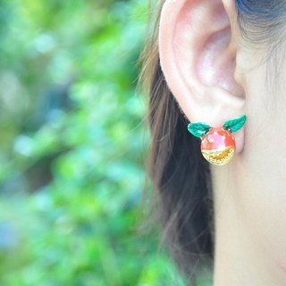 Glorikami Red hunting flower earrings