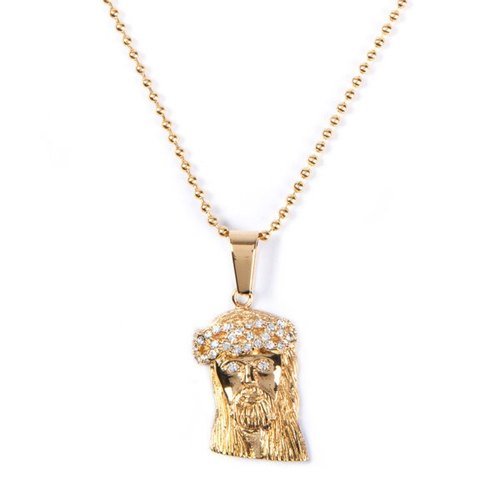 New Jersey, USA The Sneaker Studio Jesus necklace