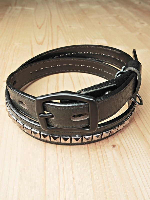 Chainloop customizable size rivets cowhide narrow version of the belt