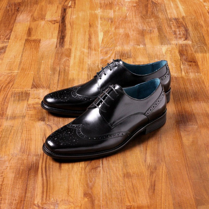 Vanger elegant and beautiful ‧ elegant and clean wing Derby shoes Va195 black