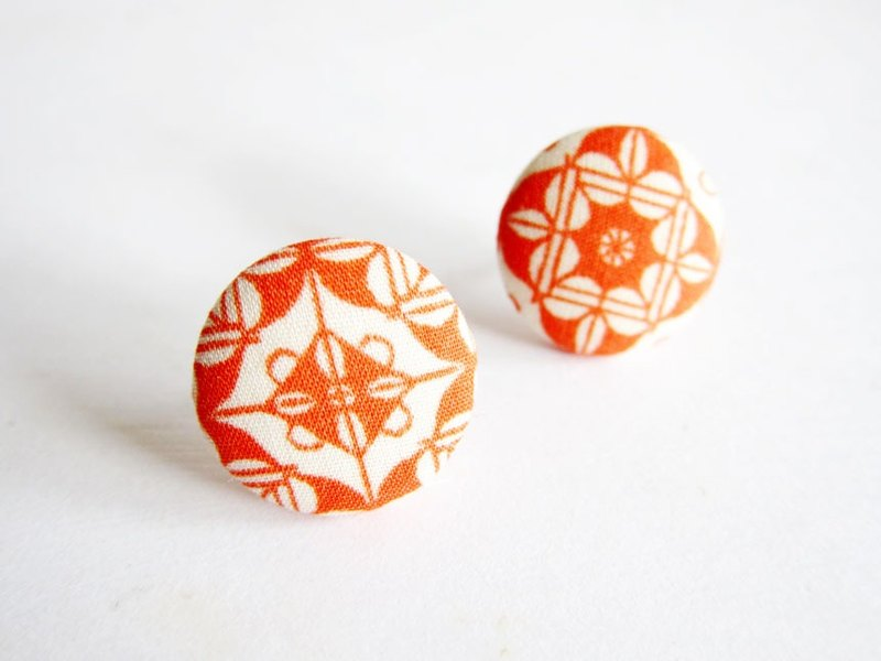 Cloth buckle earrings retro patterns do Clip Earrings