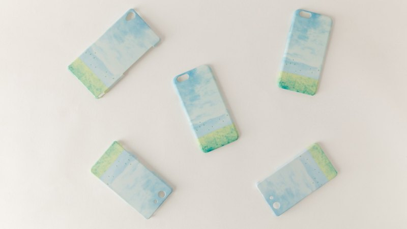"Orders production] iPhone / Galaxy / Xperia Case ""of light blue, sky."""