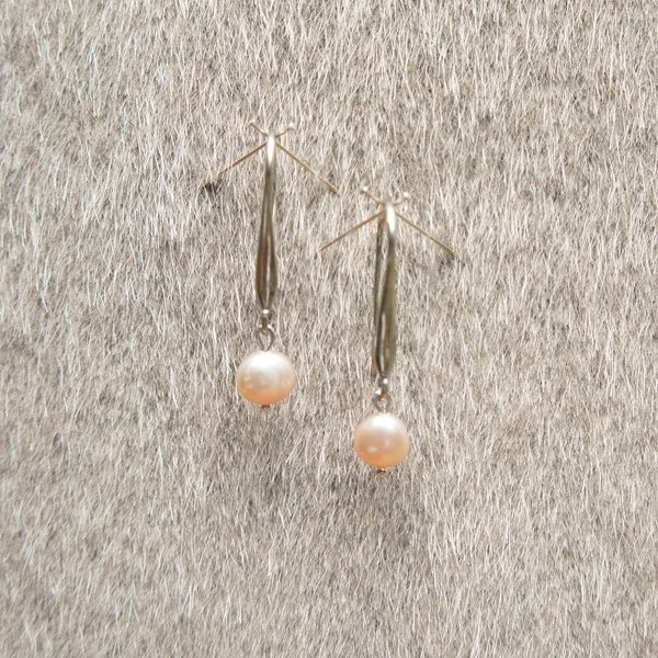 Minimalist Earrings - Pearl
