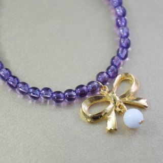 Natural Semi-Gemstone Amethyst Bracelet