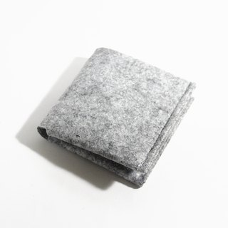 Special Offer - wool felt wool felt extremely short clip wallet / Light Heather Grey