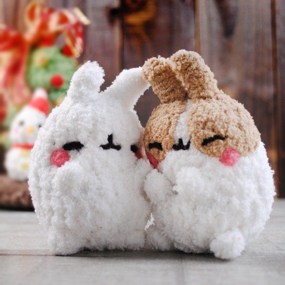 (One pair price) 13 ~ 15cm pet cloned [as] hand feiwa Fei rabbit doll pet doll lovers group (welcome to build your rabbit) Valentine's Day
