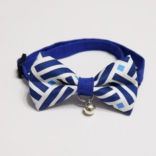 [Miya ko.] Handmade cloth grocery cats and dogs tie / tweeted / bow / folk style / vintage style / geometry / pet collars