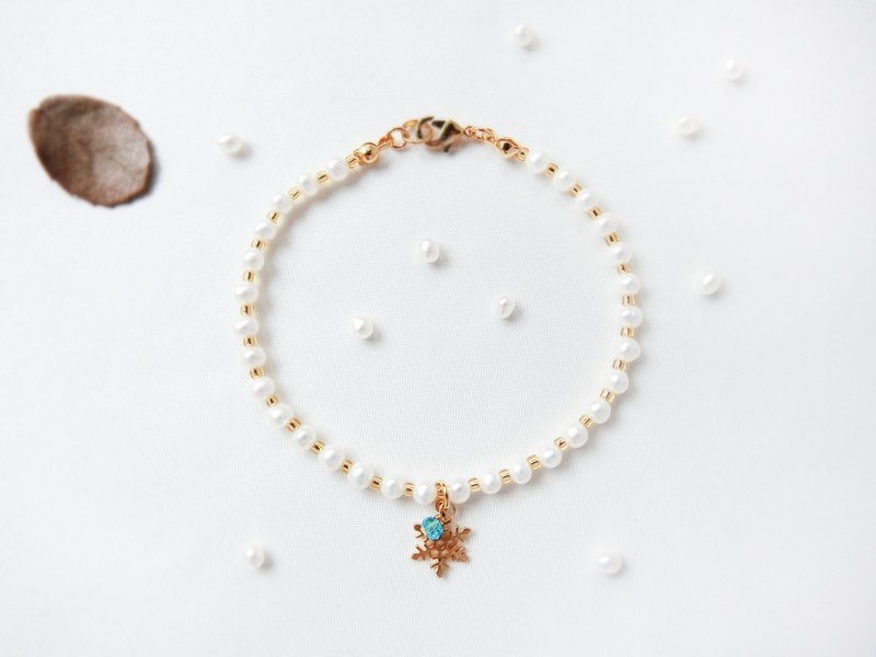 [Snow] platinum small pearl series bracelet