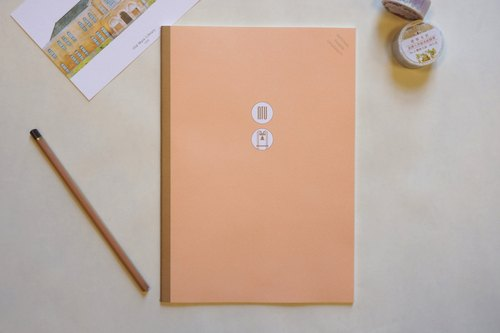Taiwan University colorful B5 Notebook | Fu Zhong x blank bit (Orange)