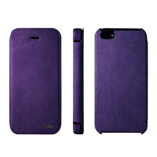Optima iPhone 5/5s/SE Side Clamshell Knitting Purple