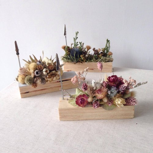 mini zoo dried flowers Memo clip