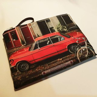 [Good to travel] Flat flat bag [Old town old car]