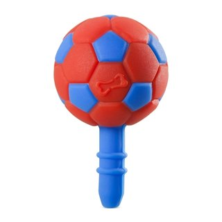Football DIY headphone plug (blue and red)