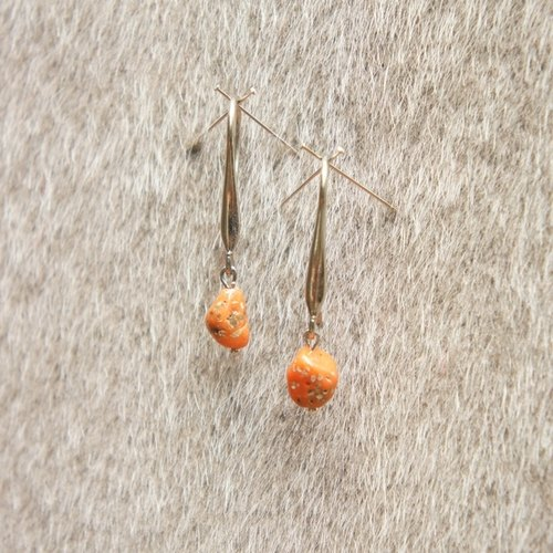 Minimalist Earrings - Coral