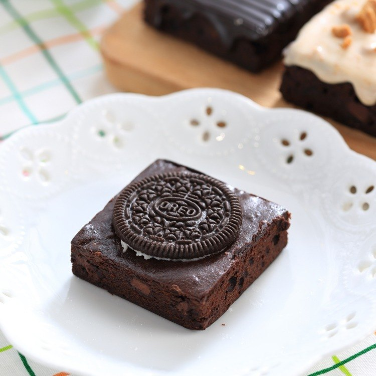 【Mr. Brown Bear chocolate brownie】 Oreo biscuits Brownie