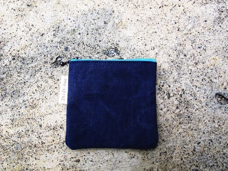[ZhiZhiRen] washed denim purse - Sky Blue