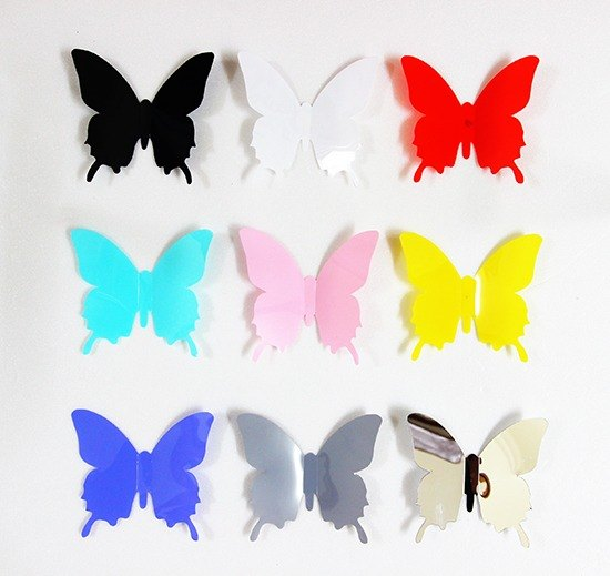 HomePlus 3D Fascinating Butterfly 12pcs Wall Stickers Decoration