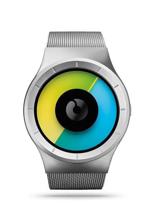 Cosmic sky watches CELESTE (silver / blue, Chrome / Colored)