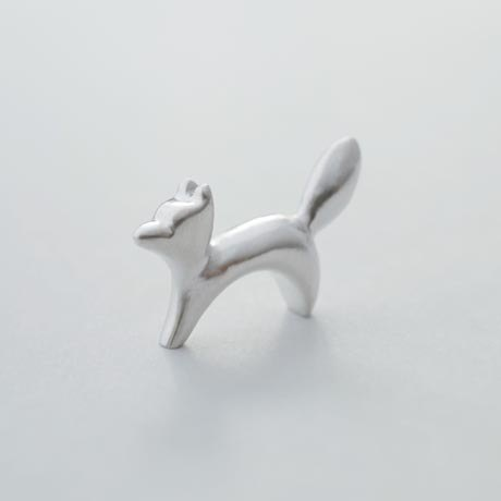 Fox and little prince handmade sterling silver necklace
