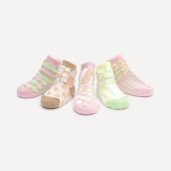 Amabro Baby Socks pink tie girl · 6-12 months