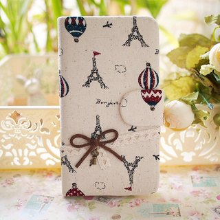 Fabric wind Eiffel Tower in Paris, France and Balloon protective sleeve shell phone LG G2 Optimus G Pro 2 Nexus 6 5 4