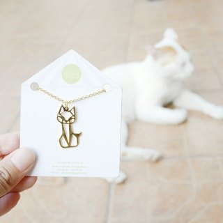 Glorikami Cat (sit) Origami Necklace