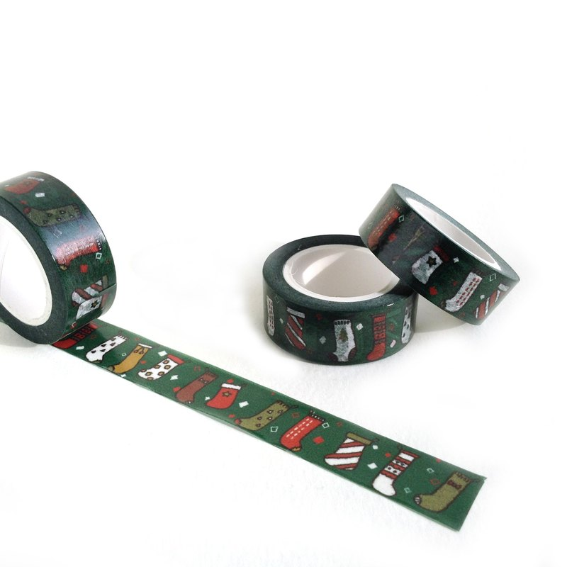 Colorful Christmas Stockings Washi tape
