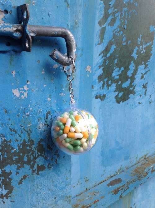 Ball rescue Series key ring - Guava Citrus