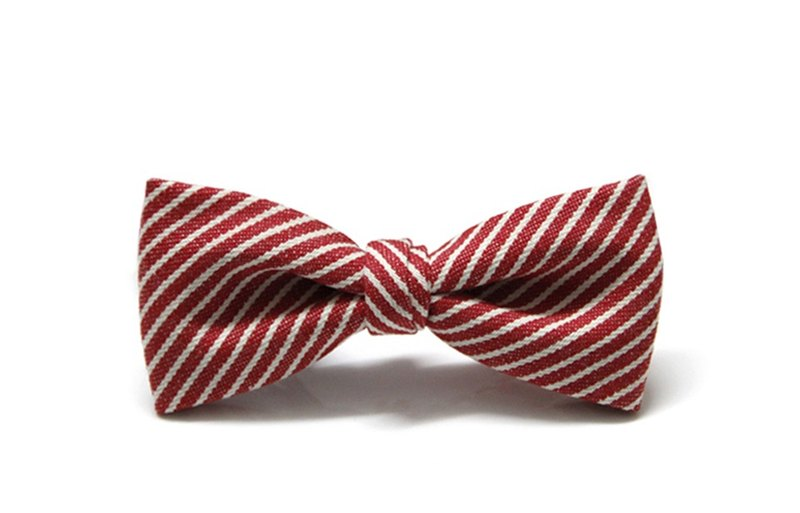▲ twill life - red bow tie Hand-made Bow Tie