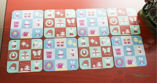 [Poca] {X'mas} small card coasters 8 group