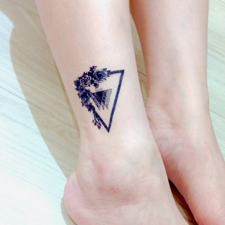Geometric Rose Triangle Flower Floral Fake Tattoo Stickers Hong Kong HK TW MIT