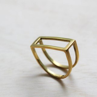 Double wear brass rings D letter
