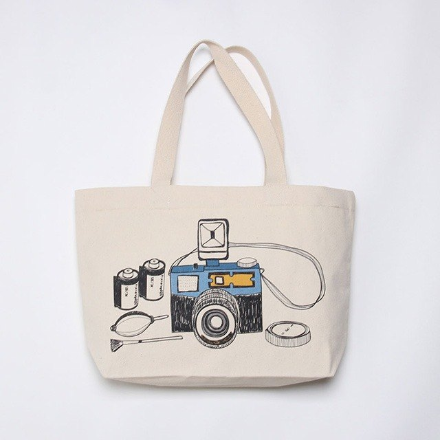 Handmade graphic canvas bag