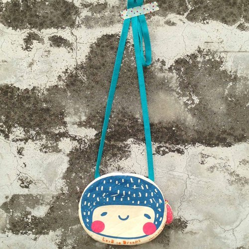 LovE to Dreams little girl out backpack bag / oblique backpack / shoulder bag