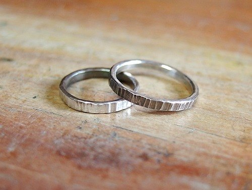 Lasherweave tail ring silver ring forging knock